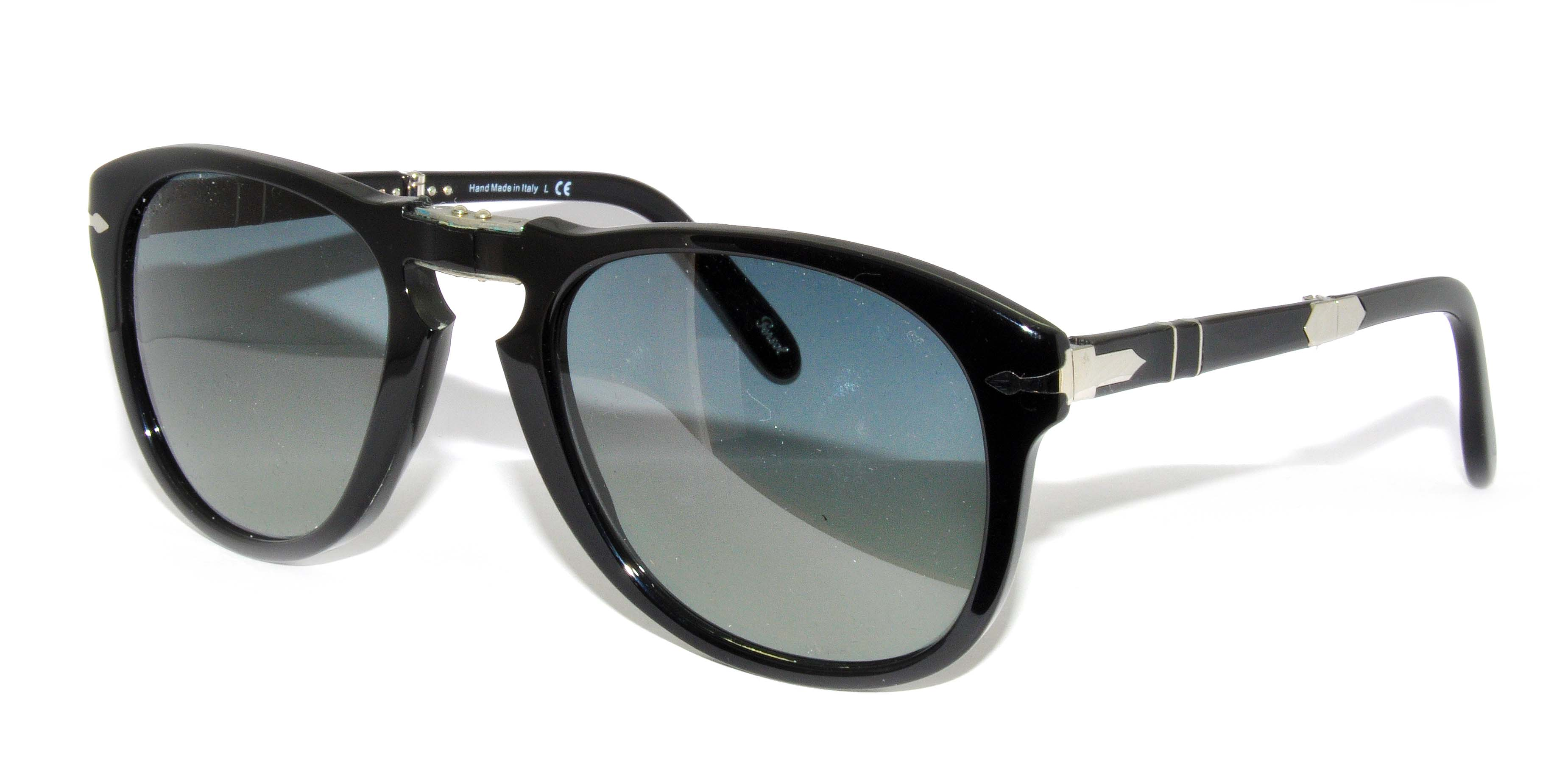 Persol Model: PO 0714 STEVE MCQUEEN, Colour Code: 95/71, Frame Colour: SHINY BLACK