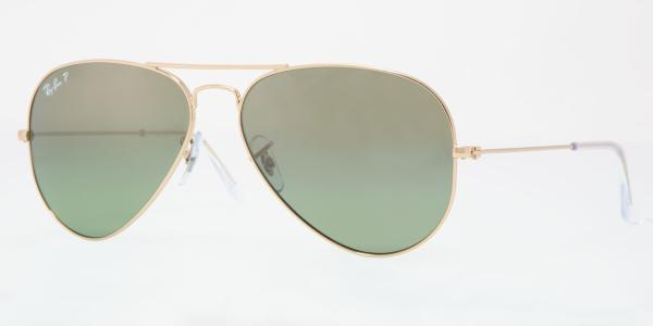 Ray-Ban Model: RB 3025 LARGE METAL AVIATOR, Colour Code: 001/M4, Frame Colour: Shiny Gold