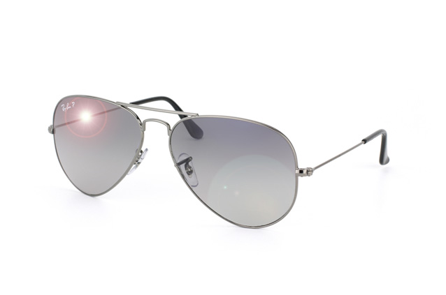 Ray-Ban Model: RB 3025 LARGE METAL AVIATOR, Colour Code: 004/78, Frame Colour: Gunmetal