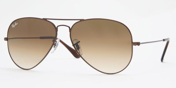 Ray-Ban Model: RB 3025 LARGE METAL AVIATOR, Colour Code: 014/51, Frame Colour: Brown