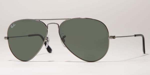 Ray-Ban Model: RB 3025 LARGE METAL AVIATOR, Colour Code: W0879, Frame Colour: Gunmetal