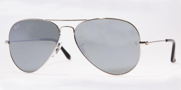 Ray-Ban Model: RB 3025 LARGE METAL AVIATOR, Colour Code: W3277, Frame Colour: Silver