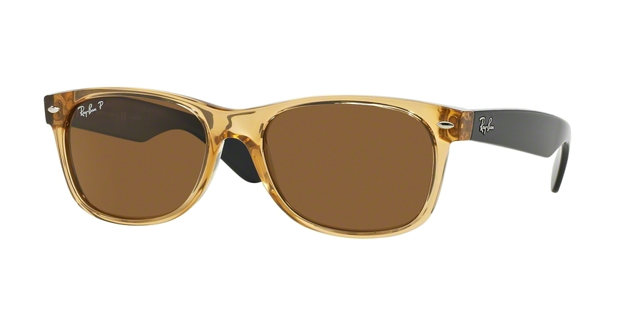 Ray-Ban Model: RB 2132 NEW WAYFARER, Colour Code: 945/57, Frame Colour: Honey