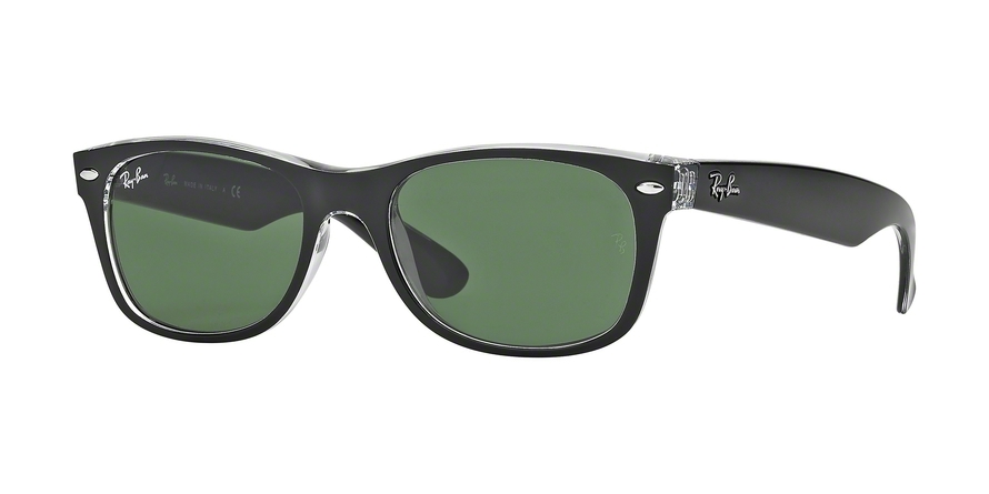 Ray-Ban Model: RB 2132 NEW WAYFARER, Colour Code: 6052, Frame Colour: Top black on transparent