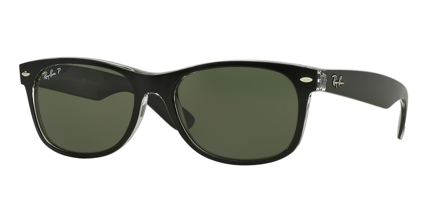 Ray-Ban Model: RB 2132 NEW WAYFARER, Colour Code: 605258, Frame Colour: Top blue on transparent