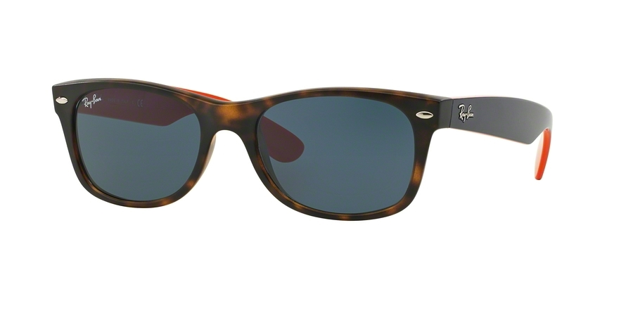 Ray-Ban Model: RB 2132 NEW WAYFARER, Colour Code: 6180R5, Frame Colour: Matte havana