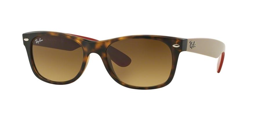 Ray-Ban Model: RB 2132 NEW WAYFARER, Colour Code: 618185, Frame Colour: Matte havana