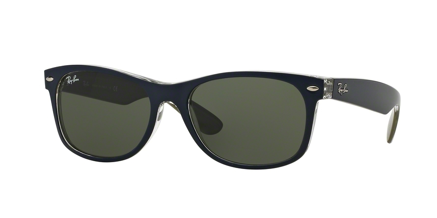 Ray-Ban Model: RB 2132 NEW WAYFARER, Colour Code: 6188, Frame Colour: Matte blue military green