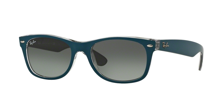 Ray-Ban Model: RB 2132 NEW WAYFARER, Colour Code: 619171, Frame Colour: Top matte petroleum on grey