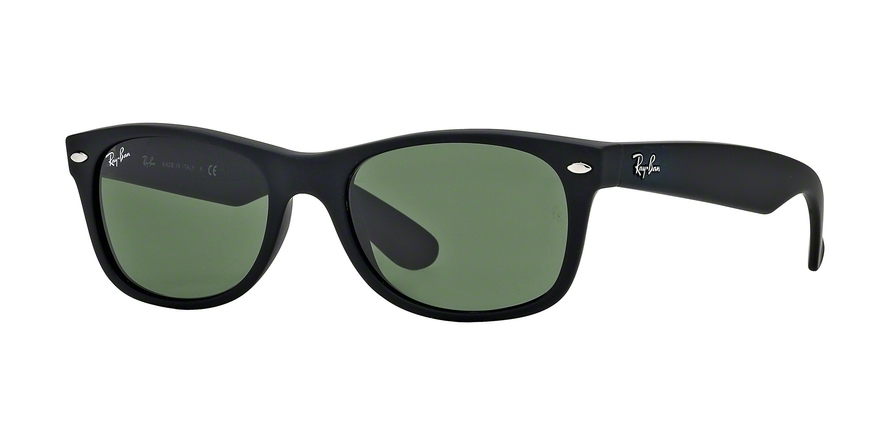 Ray-Ban Model: RB 2132 NEW WAYFARER, Colour Code: 622, Frame Colour: Rubber black