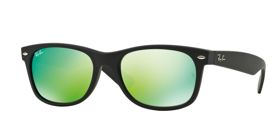 Ray-Ban Model: RB 2132 NEW WAYFARER, Colour Code: 622/19, Frame Colour: Rubber black