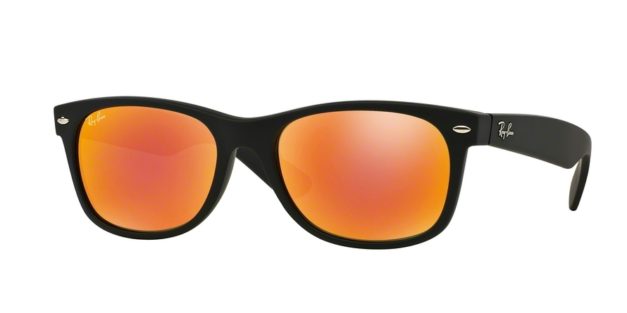 Ray-Ban Model: RB 2132 NEW WAYFARER, Colour Code: 622/69, Frame Colour: Rubber black