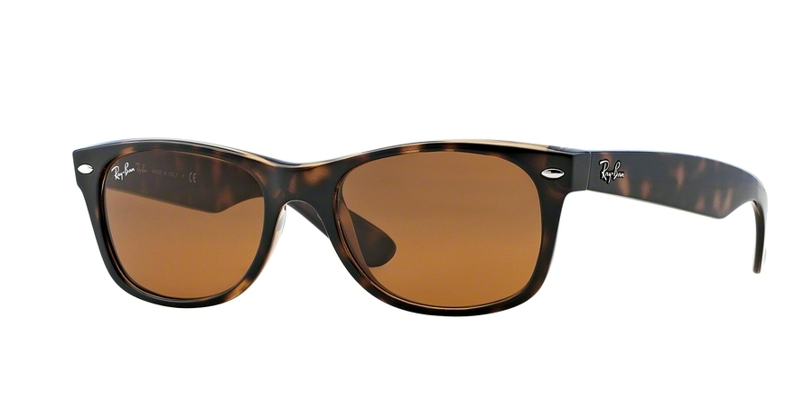Ray-Ban Model: RB 2132 NEW WAYFARER, Colour Code: 710, Frame Colour: Light havana