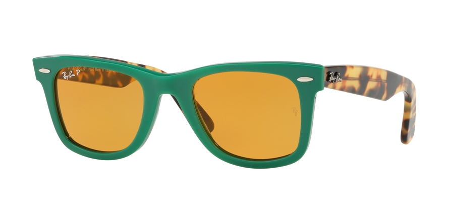 Ray-Ban Model: RB 2140 ORIGINAL WAYFARER, Colour Code: 1240N9, Frame Colour: Green