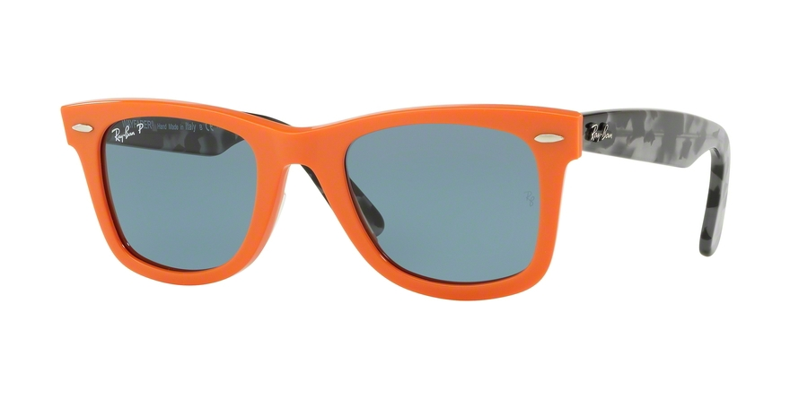 Ray-Ban Model: RB 2140 ORIGINAL WAYFARER, Colour Code: 124252, Frame Colour: Orange
