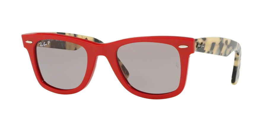 Ray-Ban Model: RB 2140 ORIGINAL WAYFARER, Colour Code: 1243P2, Frame Colour: Red