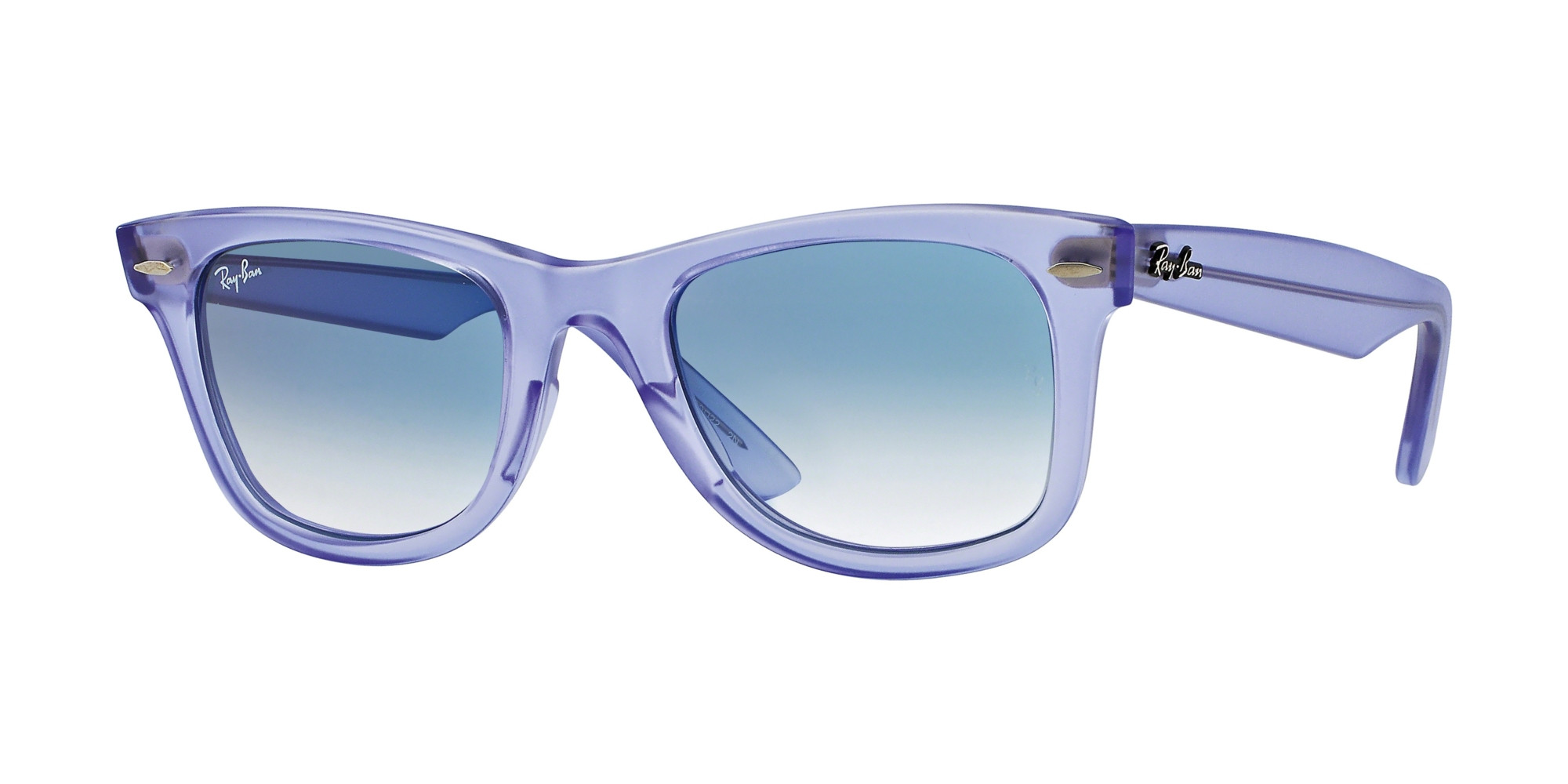 Ray-Ban Model: RB 2140 ORIGINAL WAYFARER, Colour Code: 60603F, Frame Colour: Demi gloss lilac