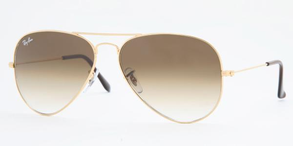 Ray-Ban Model: RB 3025 LARGE METAL AVIATOR, Colour Code: 001/51, Frame Colour: Arista