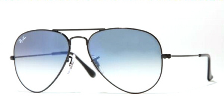 Ray-Ban Model: RB 3025 LARGE METAL AVIATOR, Colour Code: 002/3F, Frame Colour: Black