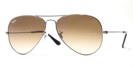Ray-Ban Model: RB 3025 LARGE METAL AVIATOR, Colour Code: 004/51, Frame Colour: Gunmetal
