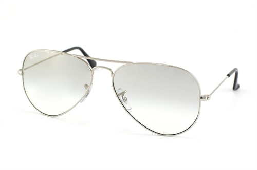 Ray-Ban Model: RB 3025 LARGE METAL AVIATOR, Colour Code: 003/3G, Frame Colour: WHITE