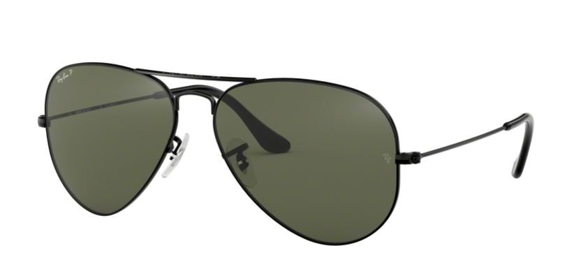 Ray-Ban Model: RB 3025 LARGE METAL AVIATOR, Colour Code: 002/58, Frame Colour: Black