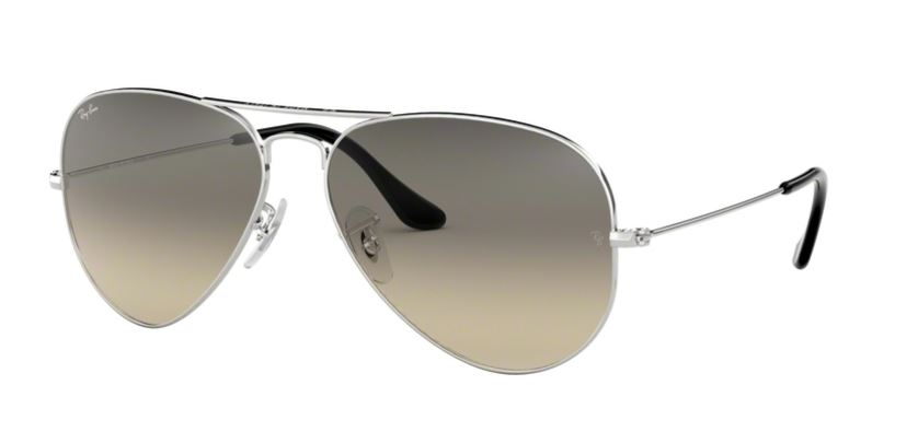 Ray-Ban Model: RB 3025 LARGE METAL AVIATOR, Colour Code: 003/32, Frame Colour: Silver