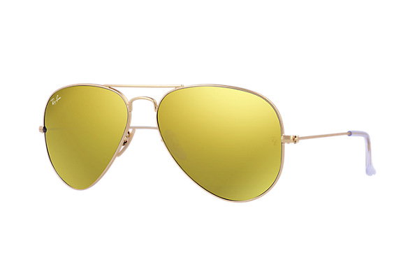 Ray-Ban Model: RB 3025 LARGE METAL AVIATOR, Colour Code: 112/93, Frame Colour: Matte gold
