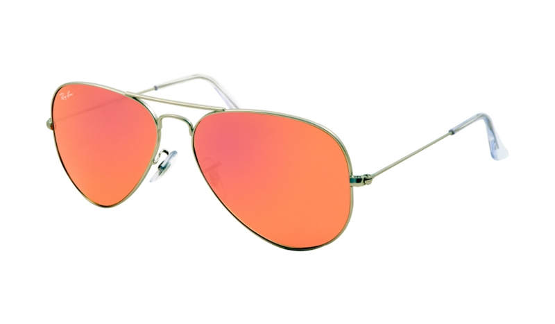 Ray-Ban Model: RB 3025 LARGE METAL AVIATOR, Colour Code: 019/Z2, Frame Colour: Matte silver
