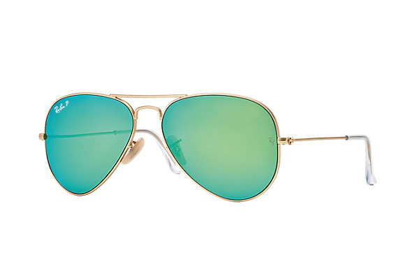 Ray-Ban Model: RB 3025 LARGE METAL AVIATOR, Colour Code: 112P9, Frame Colour: Gold