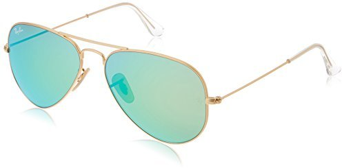 Ray-Ban Model: RB 3025 LARGE METAL AVIATOR, Colour Code: 112/19, Frame Colour: Matte gold