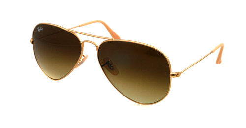Ray-Ban Model: RB 3025 LARGE METAL AVIATOR, Colour Code: 112/85, Frame Colour: Matte gold