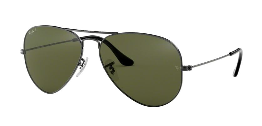 Ray-Ban Model: RB 3025 LARGE METAL AVIATOR, Colour Code: 004/58, Frame Colour: Gunmetal