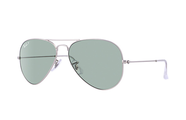 Ray-Ban Model: RB 3025 LARGE METAL AVIATOR, Colour Code: 019/05, Frame Colour: MATTE SILVER