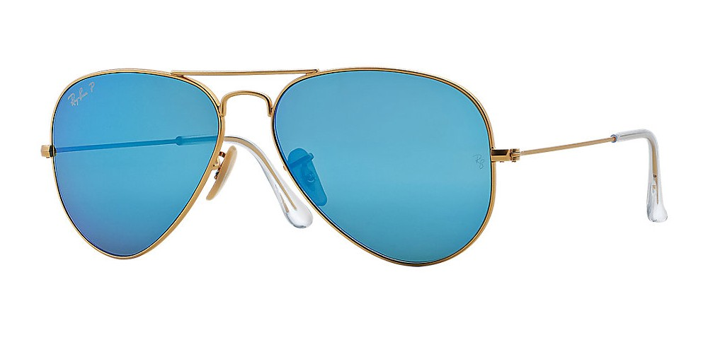 Ray-Ban Model: RB 3025 LARGE METAL AVIATOR, Colour Code: 1124L, Frame Colour: Matte gold