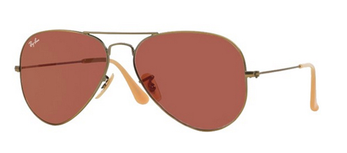 Ray-Ban Model: RB 3025 LARGE METAL AVIATOR, Colour Code: 167/2K, Frame Colour: Demi gloss brushed bronze