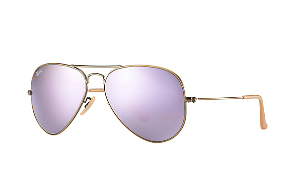 Ray-Ban Model: RB 3025 LARGE METAL AVIATOR, Colour Code: 167/4K, Frame Colour: Demi gloss brushed bronze