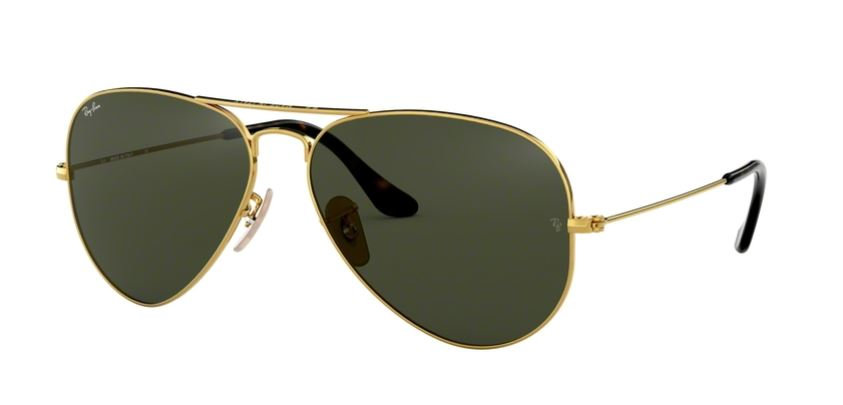Ray-Ban Model: RB 3025 LARGE METAL AVIATOR, Colour Code: 181, Frame Colour: Gold