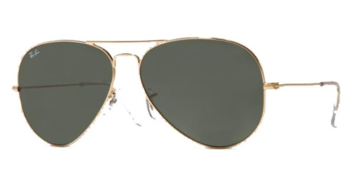 Ray-Ban Model: RB 3025 LARGE METAL AVIATOR, Colour Code: 001, Frame Colour: Arista