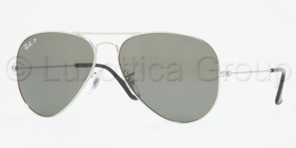 Ray-Ban Model: RB 3025 LARGE METAL AVIATOR, Colour Code: 003/58, Frame Colour: SILVER