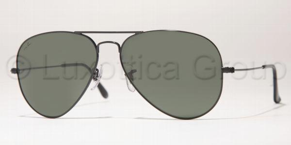 Ray-Ban Model: RB 3025 LARGE METAL AVIATOR, Colour Code: L2823, Frame Colour: BLACK